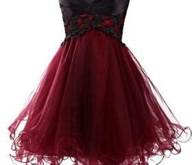 Dress Owl Hoodie Marun Ready charming wine tulle lace up prom gown 2016 mini