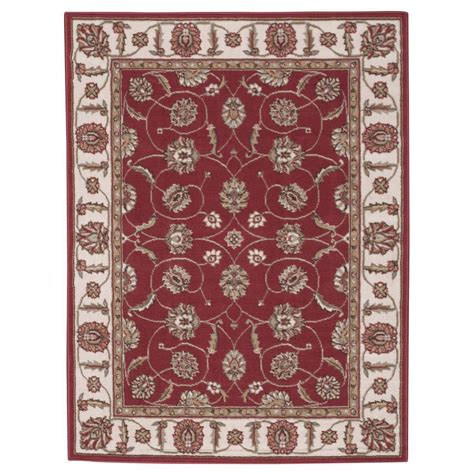 Area Rugs Overstock Nourison Overstock Modesto Vines Rust 3 Ft 11 In X 5 Ft 3 In Area Rug 184467 The Home Depot