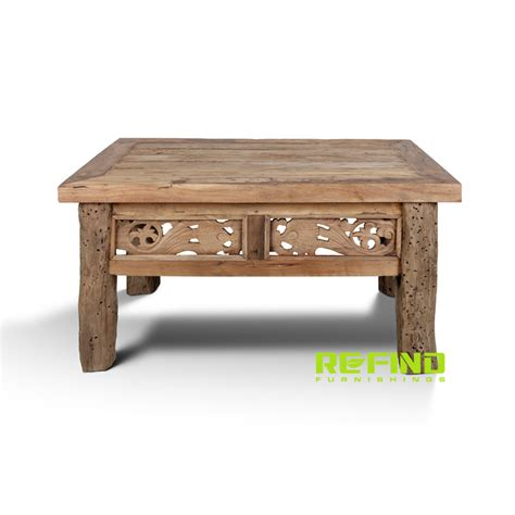 Coffee Indo recycled jawa wood small coffee table front view