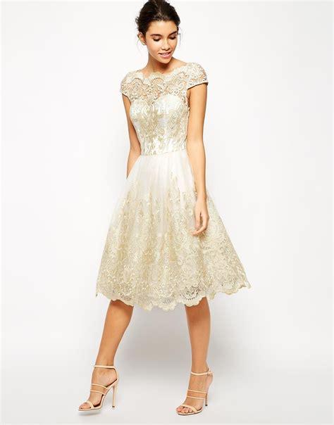 Midi Dress 182 chi chi premium metallic lace midi prom dress with