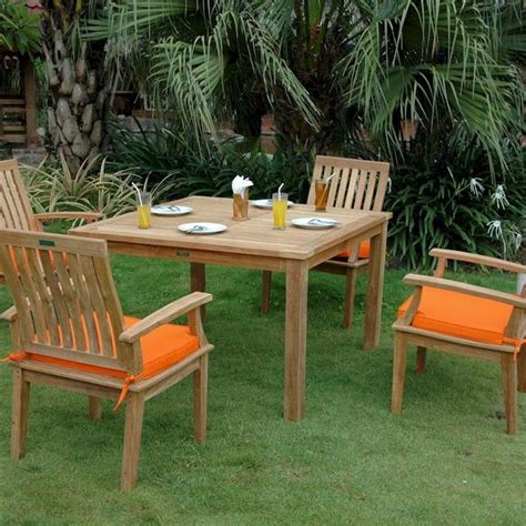 Modern Patio Dining Set Teak 4 Person Teak Patio Dining Set Modern Outdoor Dining Sets