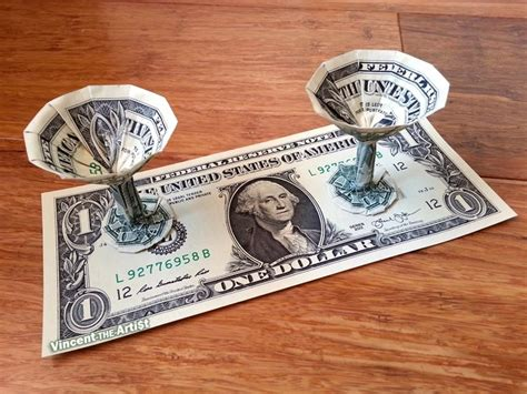 Origami Martini Glass - 1128 best money dollar origami images on money