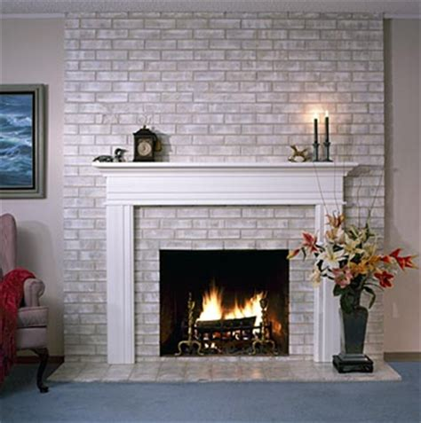 an easy update to the 80 s brick wall fireplaces you