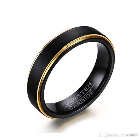 wholesale cool simple s black gold rings top quality