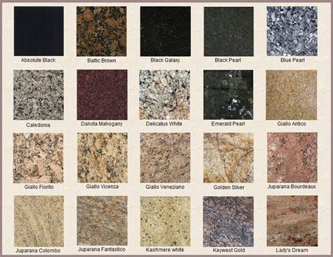 Granite Types For Countertops 25 best ideas about types of granite on types