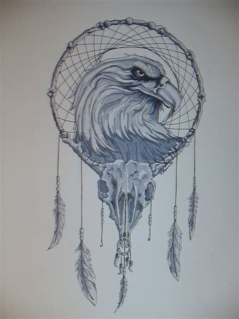 dream catcher tattoo eagle american dreamcatcher by deviljackdesigns on deviantart