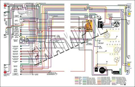models parts   chevrolet truck full colored wiring diagram