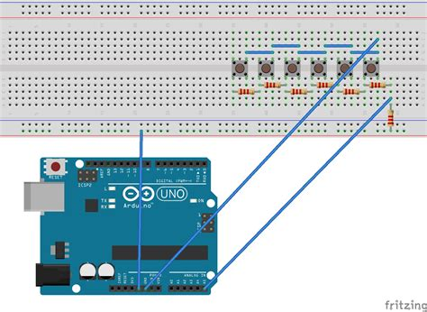 arduino resistor switch how to debouce six buttons on one analog pin with arduino electrical engineering stack exchange
