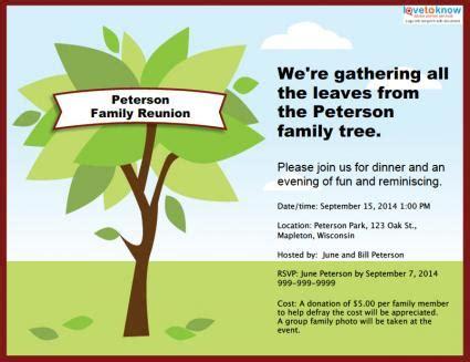 family reunion invitation lovetoknow