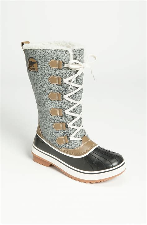 sorel boots sorel tivoli high waterproof boot in gray black grey lyst