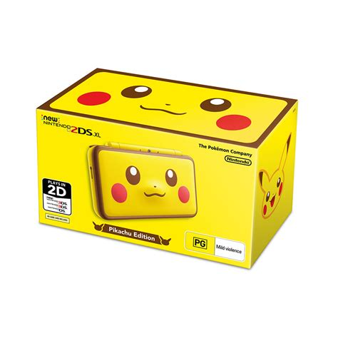 nintendo 2ds console new nintendo 2ds xl pikachu edition console the gamesmen