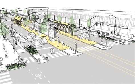 geometric design criteria for urban streets transit corridor national association of city