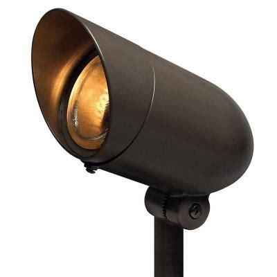 home depot led landscape lights hinkley lighting 6 5 in bronze led outdoor spot light
