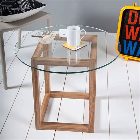 Glass Cube Coffee Table Cube Glass Coffee Table By Obi Furniture Notonthehighstreet