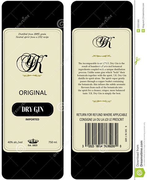 gin label royalty free stock photo image 23031865