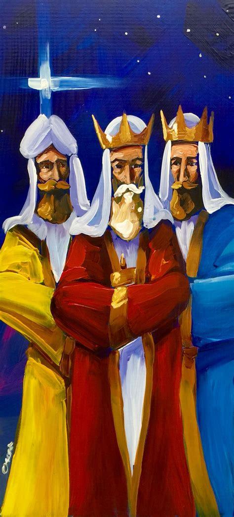 reyes magos al oleo sobre madera artesania de puerto rico reyes magos pinterest