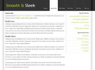 Smooth Sleek Free Website Template Free Css Templates Free Css Sleek Website Templates