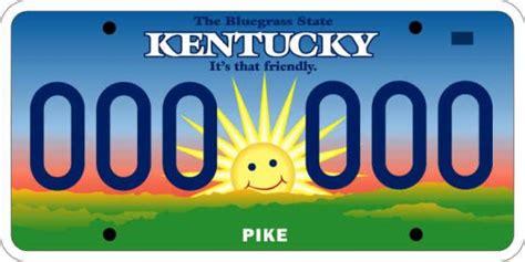 kentuckyroads license plates