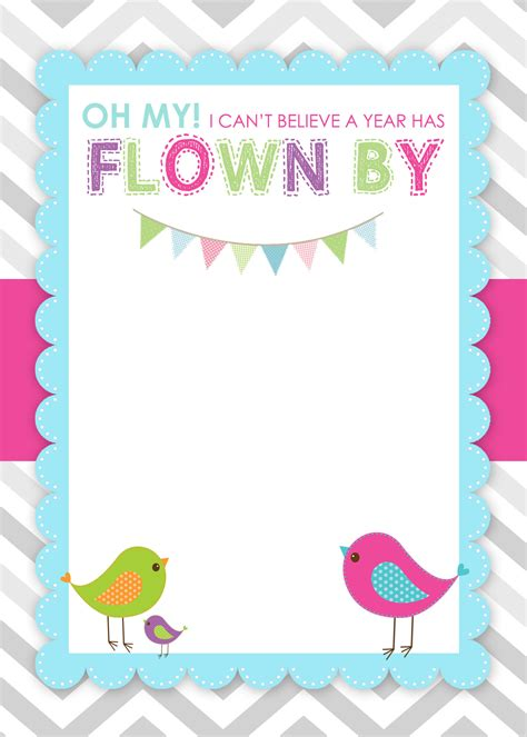 printable birthday cards girl 8 best images of free printable first birthday cards