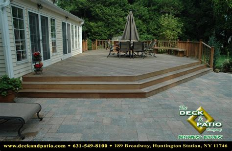 deck to patio transition decks
