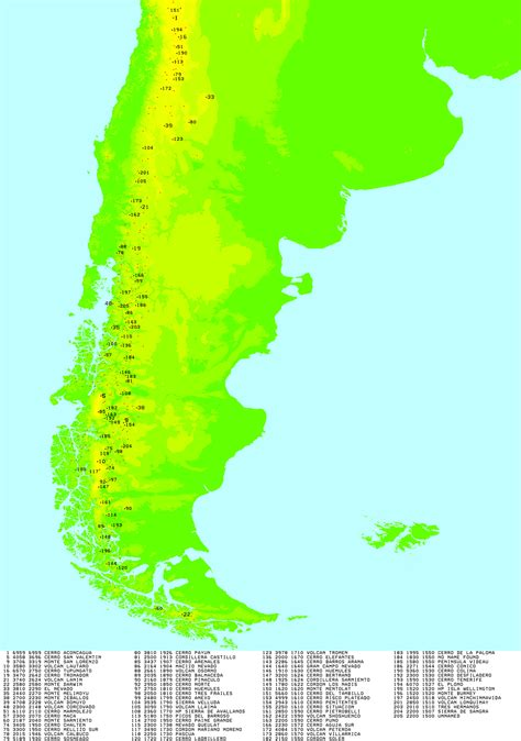 south america map highlands highlands map