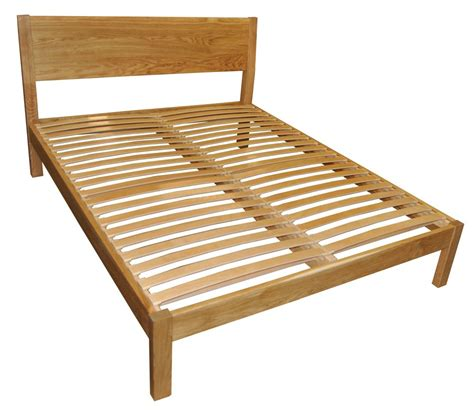 Solid Bed Frames Hamsterly Solid Oak Bed Frame 4ft6