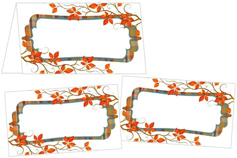 Free Place Card Templates For Thanksgiving by Perfectly Plaid Thanksgiving Place Cards