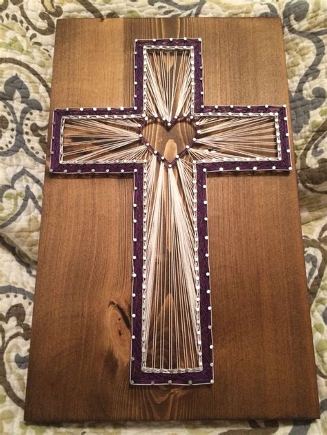 custom cross string religious christian decor home