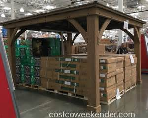 12x14 Gazebo Costco by Yardistry 12 X 14 Cedar Wood Gazebo With Aluminum Roof