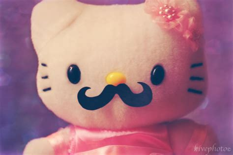 Hello Kitty Mustache Wallpaper | hello kitty moustache wallpaper by mfsyrcm on deviantart