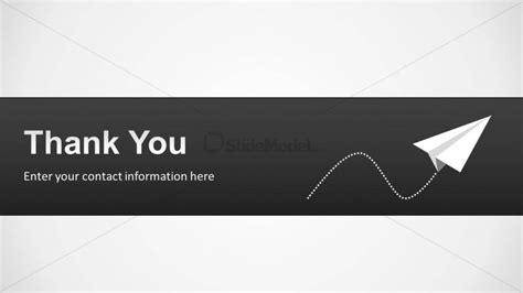 Thank You Slide Design For Powerpoint With Paper Plane Slidemodel Powerpoint Templates Airline Industry