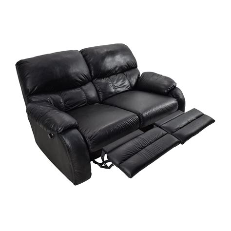black leather 2 seater recliner sofa 68 black leather reclining 2 seater sofas