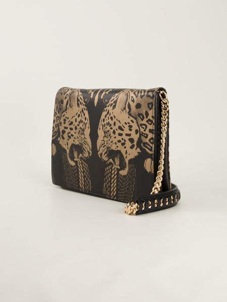 Just Cavalli Animal Print Shoulder Bag by Roberto Cavalli Leopard Print Shoulder Bag In Multicolor