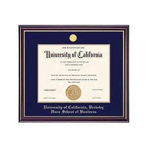 uc berkeley business cards uc berkeley grad gold diploma frame haas school
