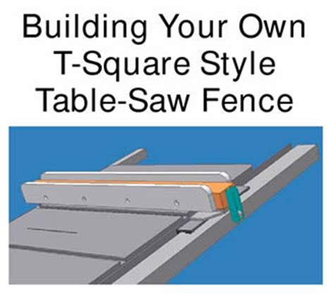 table saw fence plans building your own t square style table saw fence http