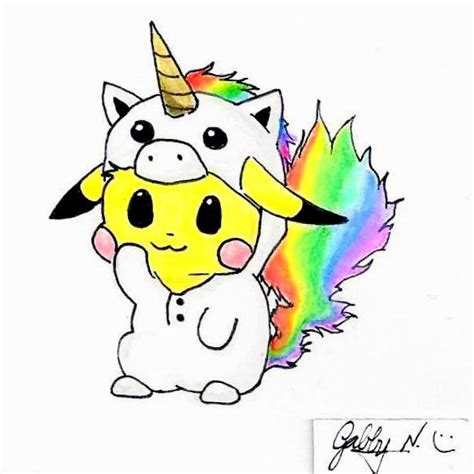 doodle how to make unicorn unicorn pikachu doodle by gabby gator on deviantart