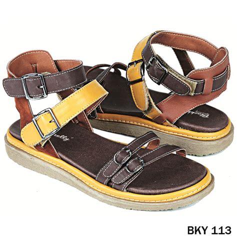 Sandal Sepatu Wanita Coklat 1 sepatu sandal pu pvc sol tpr coklat gudang fashion wanita