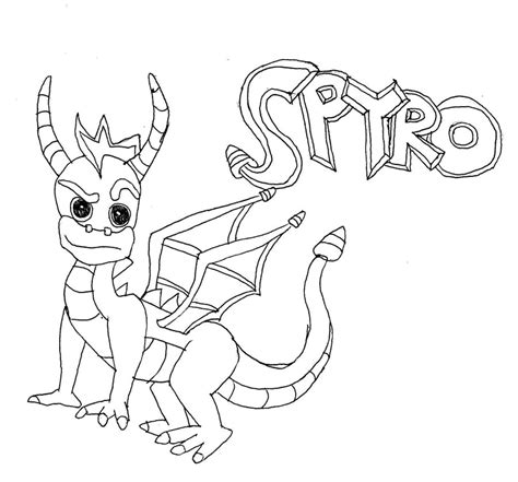 coloring pages of spyro the dragon spyro free colouring pages