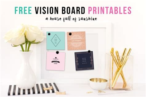 vision board templates free a house of
