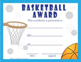 free basketball certificates certificate