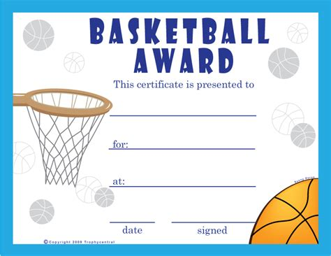 basketball certificates templates free 9 best images of basketball certificate templates free