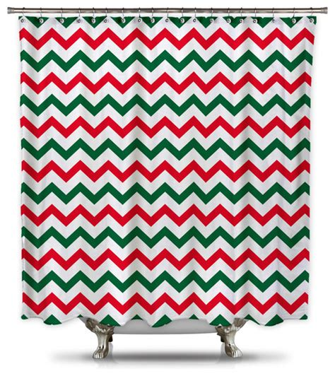 red and green curtains red and green chevron shower curtain extra long