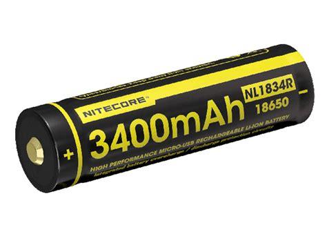 Nitecore 18650 Micro Usb Rechargeable Li Ion Battery 2600mah Nl1826r nitecore nl1834r 18650 battery built in usb charging port