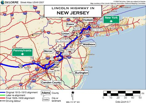 road map of new jersey map new jersey