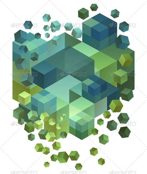 abstract 3d cubes vector background graphicriver