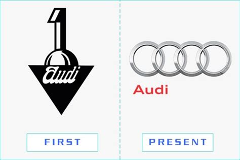 first audi logo take a look at 50 corporations amazing first present logos