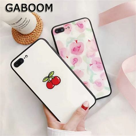 gaboom cute red cherry patterned phone case  iphone