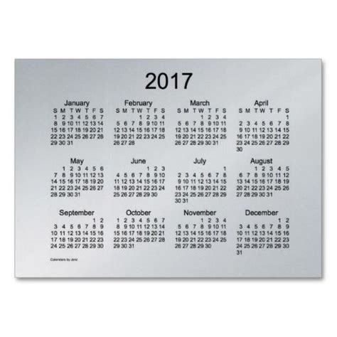 microsoft 2017 business card calendar template 2017 pocket calendar business card template diy crafts