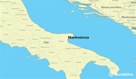 map of foggia italy where is manfredonia italy manfredonia apulia map