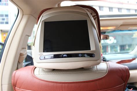 2pcs car headrest monitor dvd player back seat tv for